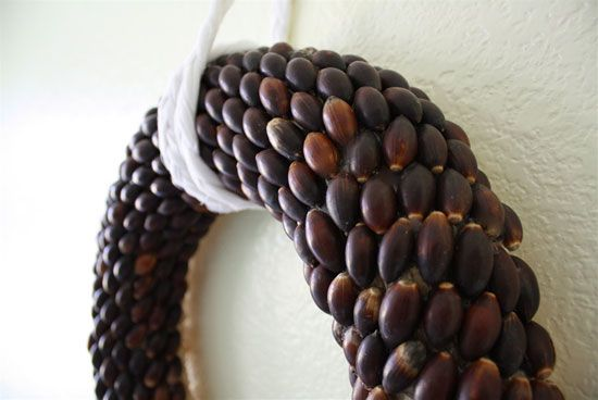 Интериорни занаяти, изработени от жълъди със собствени ръце