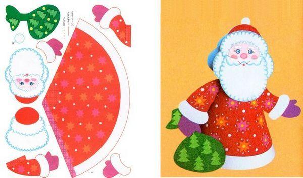 Модел за отпечатване Дядо Коледа от хартия