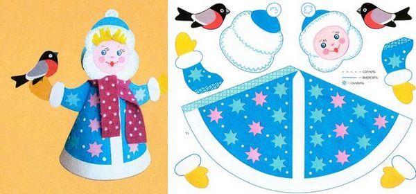 Модел за печат Snow Maiden от хартия