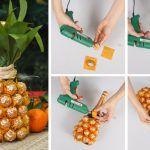 Снимка 33: Декорация от шампанско с бонбони и хартия от ананас