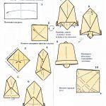 Снимка 40: Бел в оригами стил