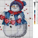 Снимка 50: Схема за бродерии на снежен човек