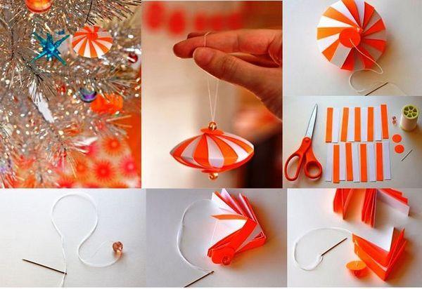 Поетапно създаване на хартиена играчка на Коледа