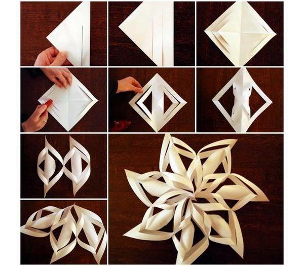 Оформяне на насипен снежинка от хартия със собствените си ръце