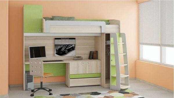 Подложка за детска стая с работно място