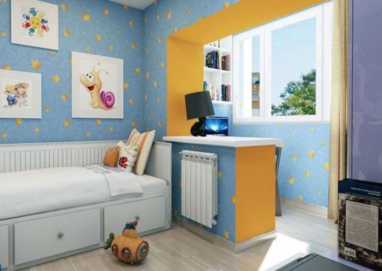 Интериор на детска стая с балкон