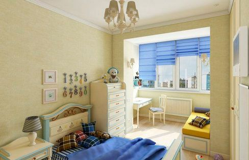 Детска стая на балкона снимка