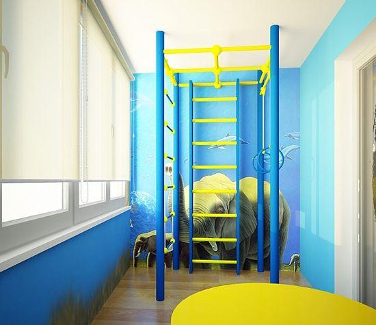Дизайн на детска стая на балкона