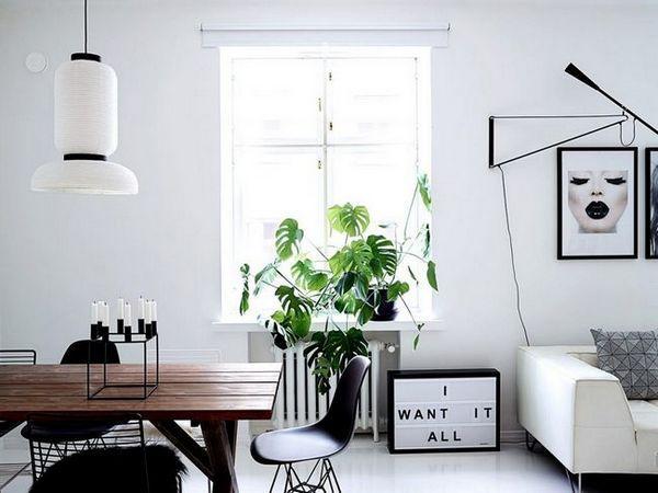 Апартамент в Хелзинки с черно-бял интериор