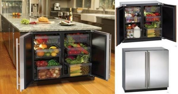 Хладилник в режещата маса