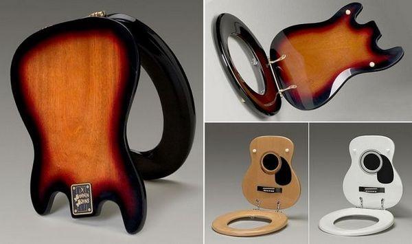 тоалетна чиния под формата на китара