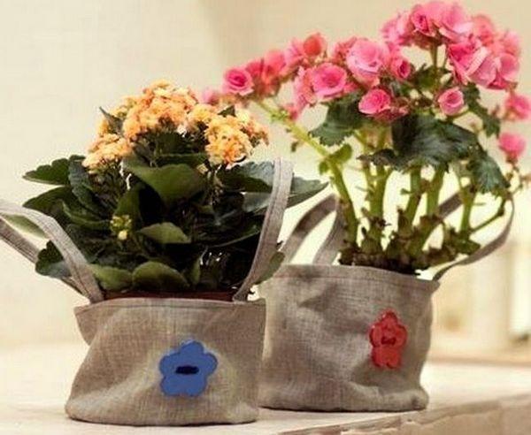 Декорация на цветя в саксия