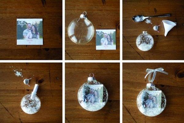 Декориране на прозрачно коледно дърво с снимка