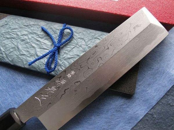 Японски нож от стомана Дамаск