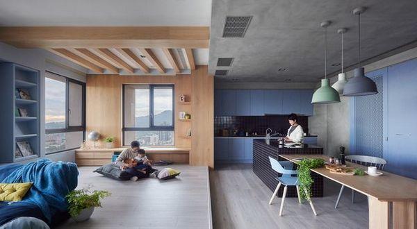 Светъл модерен апартамент за семейство с малки деца