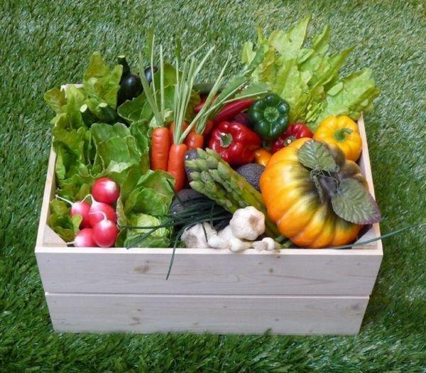 Кутия за съхранение на зеленчуци на балкона