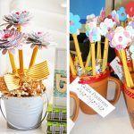 Снимка 53: Букет от моливи и хартиени цветя