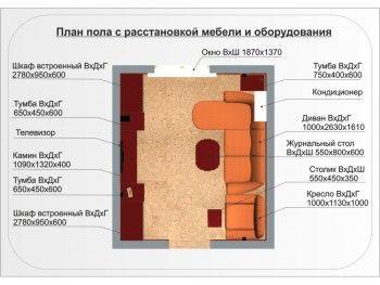 Пример за симетрично подреждане на мебели в стая