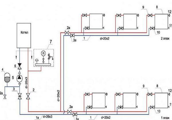 Диаграма на свързване на акумулатора