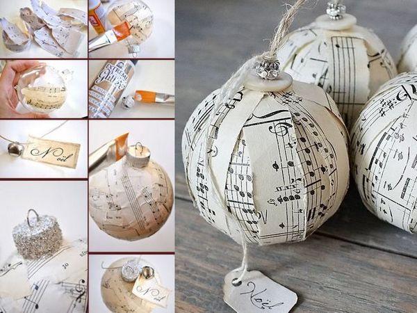 Коледно дърво украса с хартия
