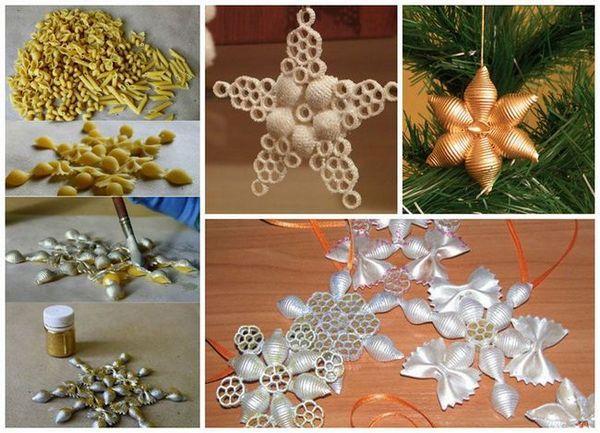 Изработване на коледни играчки от макаронени изделия