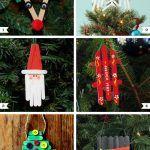 Снимка 49: Коледни играчки, изработени от сладоледени пръчки