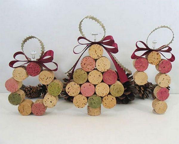Коледни елхи от корк