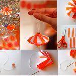 Снимка 52: Хартиена играчка за коледно дърво със собствени ръце