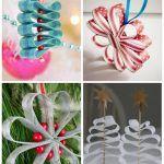 Снимка 53: Коледни играчки, изработени от панделки и мъниста