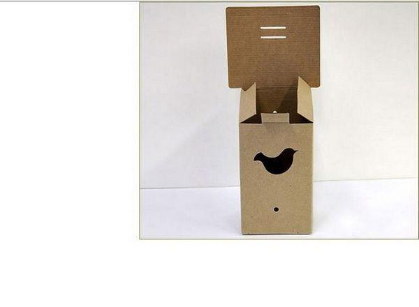 Птица къща от картон със собствени ръце