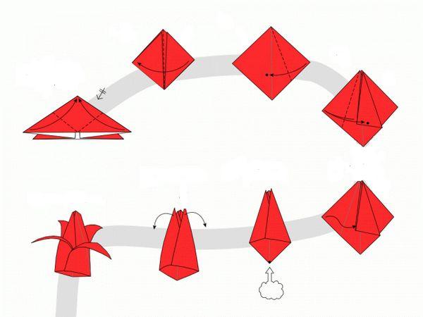 Схемата за създаване на пъпка на лале
