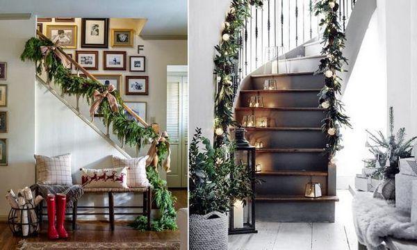 Декорация на стълби с игли