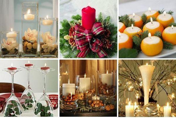 Декорация на новогодишните свещи