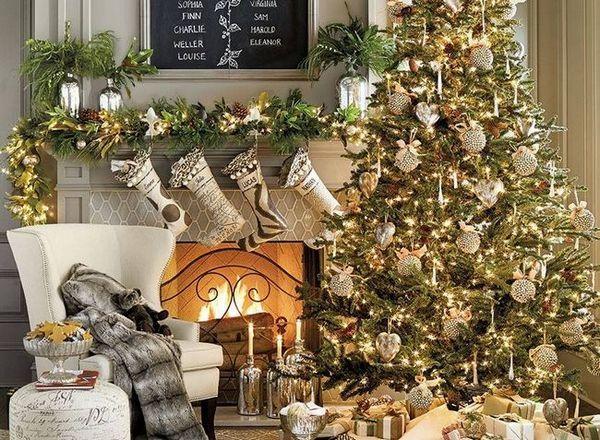 Коледна украса в злато