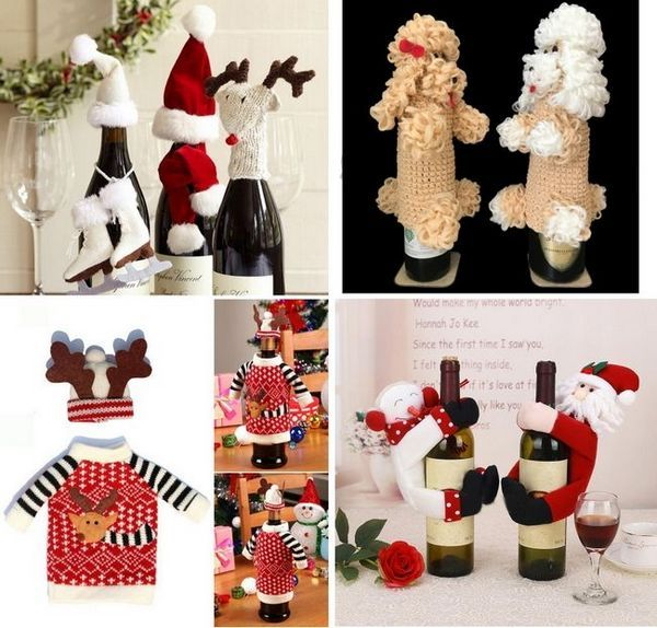 Коледна украса на бутилки