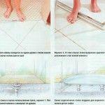 Снимка 30: Варианти за подова настилка за душ кабина
