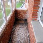 Снимка 23: изолация на пода на балкона (2)