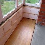 Снимка 24: Подова изолация на балкона