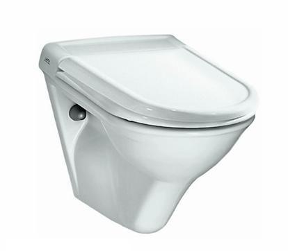 Окачена тоалетна, изработена от глинени съдове