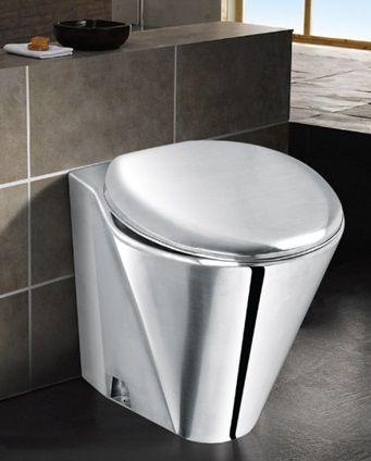 Вградена тоалетна чиния от неръждаема стомана