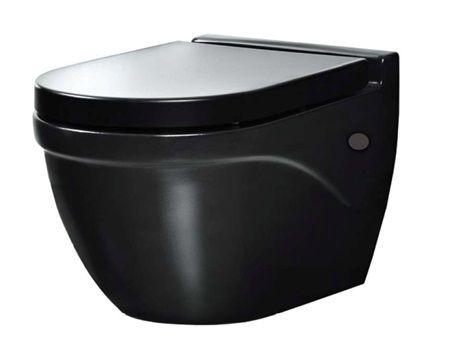 Вградена тоалетна чиния от черна пластмаса