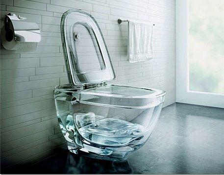 Стъклена вградена тоалетна чиния