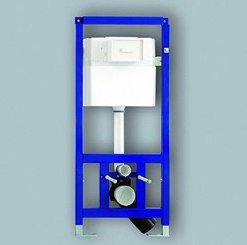 Устройство за фиксиране на тоалетна чиния с вграден дренажен резервоар