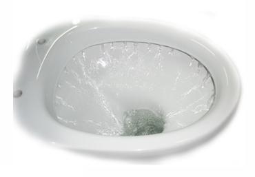 Принцип на кръгла тоалетна флъш