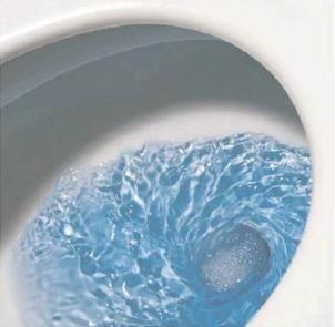 Принципът на източване на водата в купата на тоалетна чиния с фуния