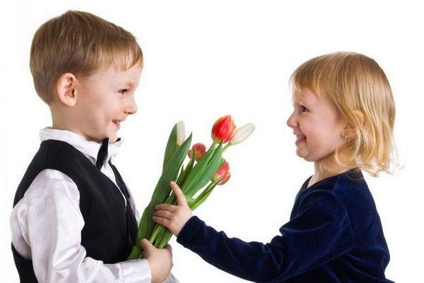 Цветя за момичета на 8 март