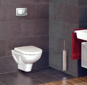Тоалетна чиния, прикрепена към стената