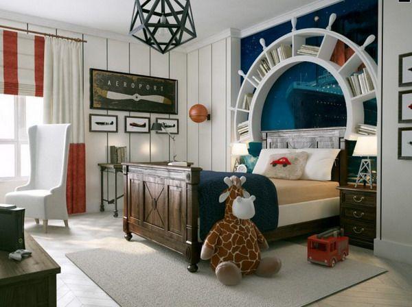 Малка детска стая в морски стил