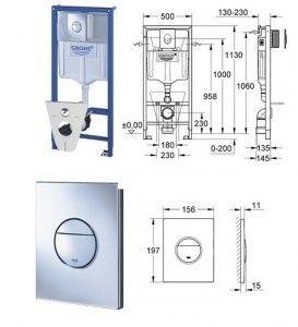 При инсталирането на окачена тоалетна чиния се препоръчва да изберете пневматичен дренажен бутон. По-лесно е да се инсталира и ще продължи по-дълго от механичното