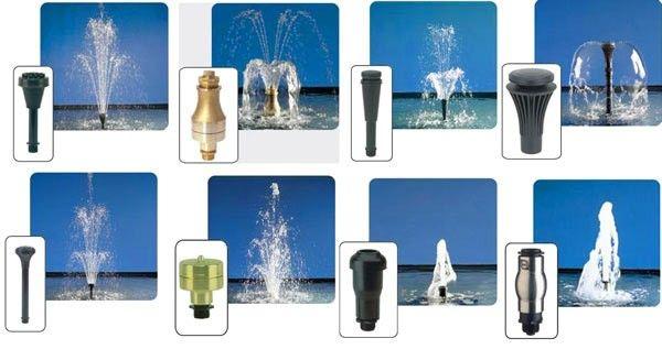 Форми на дюзите за фонтан